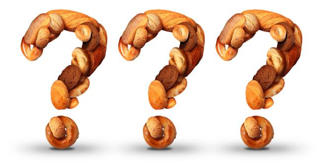 question marks made out of bread